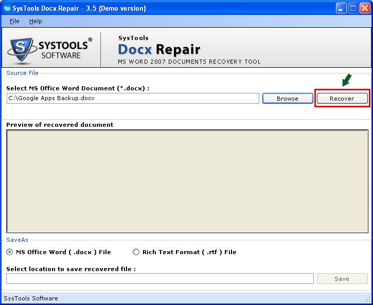 MS Word 2010 Repair Tool
